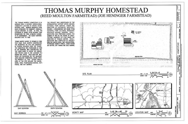 Thomas Murphy Homestead, North of John Moulton Homestead, approximately 1,000 feet west of Mormon Row Road, and .25 mile north of Antelope Flats Road, Kelly, Teton County, WY