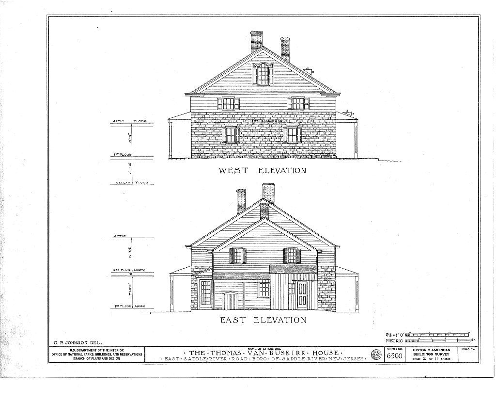 Thomas Van Buskirk House, East Saddle River Road, Saddle River, Bergen County, NJ