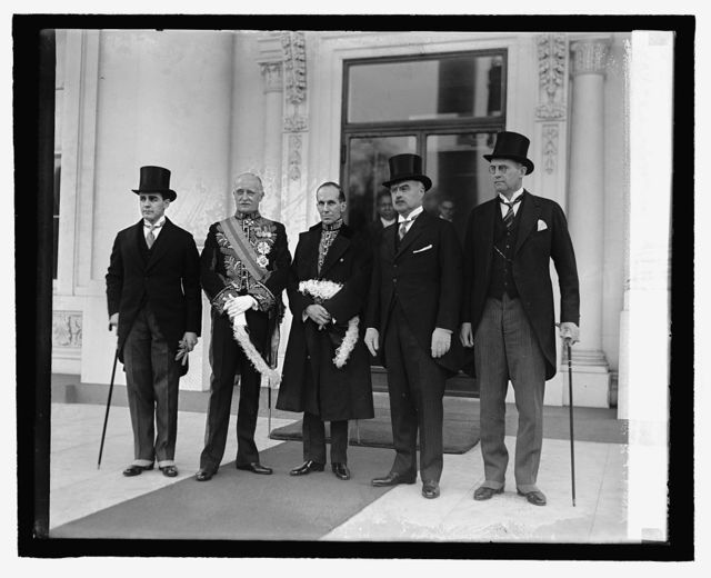 Thos. Stone, Sir Esme Howard, Vincent Massey, J. Butler Knight, M. Mahoney, 2/18/27