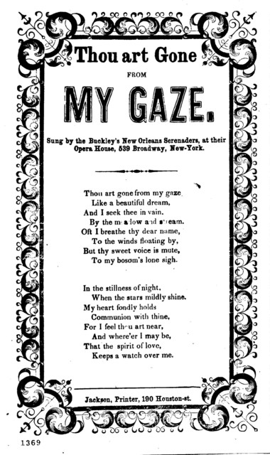 Thou art gone from my gaze. Jackson, Printer, 190 Houston.-St
