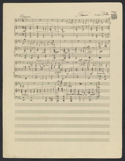 Three Poems for Voice and Piano Vorfrühling, Nachtgebet der Braut, Fromm,