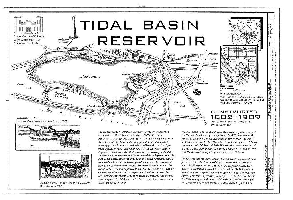 Tidal Reservoir, Between Potomac River & Washington Channel, Washington, District of Columbia, DC