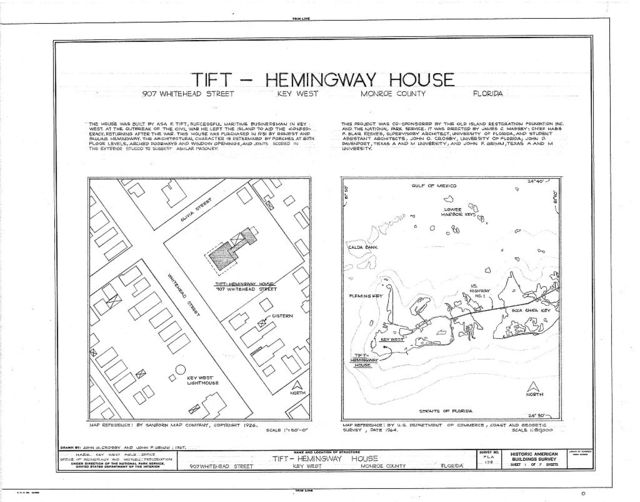 Tift-Hemingway House, 907 Whitehead Street, Key West, Monroe County, FL