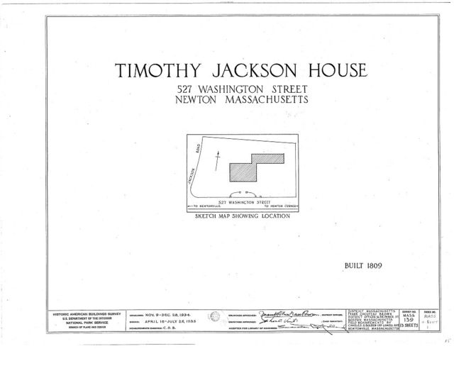 Timothy Jackson House, 527 Washington Street, Newton, Middlesex County, MA