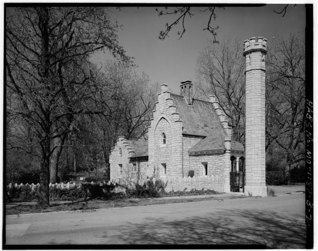 Tower Grove Park, West Gate House & Gate, 4255 Arsenal Street, Saint Louis, Independent City, MO
