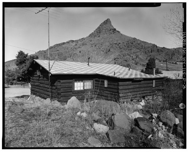 Trail Shop, Guest Cabin, 185' east-southeast of Northwest corner of Lodge, Cody, Park County, WY