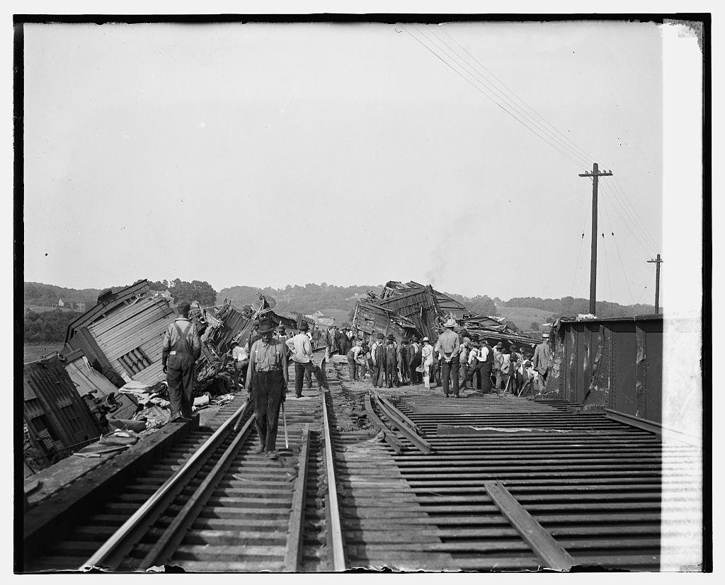 Train wreck at Cameron Run, 7/20/26