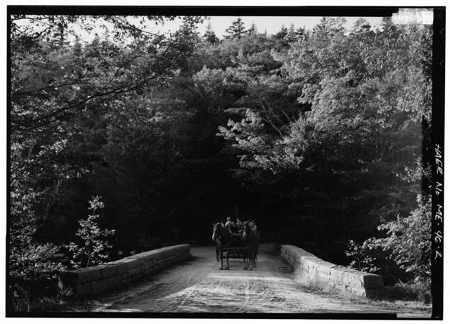 Triad-Day Mountain Bridge, Spanning Park Loop Road at Triad-Day Mountain Pass, Seal Harbor, Hancock County, ME