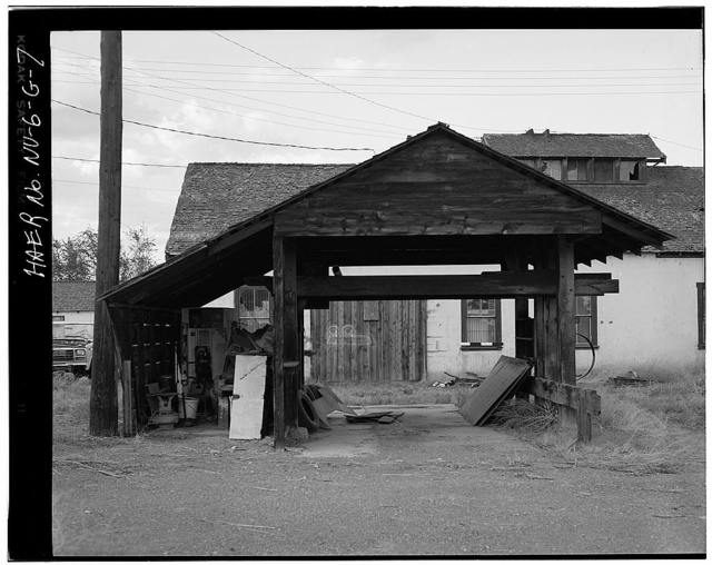 Truckee-Carson Irrigation District Facility Yard, Machine Shop, Sixth & Taylor Streets, Fallon, Churchill County, NV