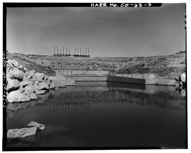 Twin Lakes Dam & Outlet Works, Beneath Twin Lakes Reservoir, T11S, R80W, S22, Twin Lakes, Lake County, CO