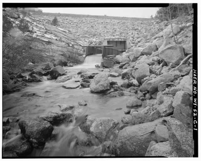 Twin Lakes Reservoir No.1, Intake & Outlet Structure, Head of Big Goose Creek, Sheridan, Sheridan County, WY
