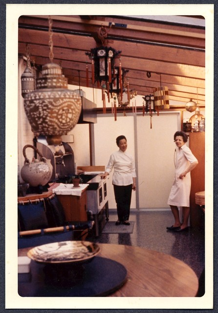 [ Two chefs Inside Danny Kaye's home kitchen]