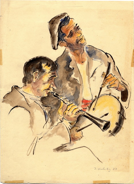 [ two musicians]