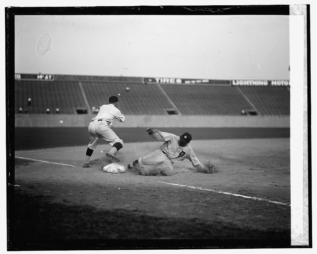 Ty Cobb safe at third after making a triple, 8/16/24