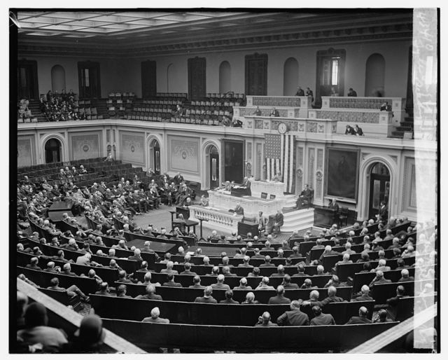 Tyler Page reading Hoover's first message to 71st Congress, 12/2/29