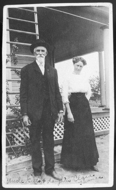 """Uncle Giles & daughter Clara Thomas."""