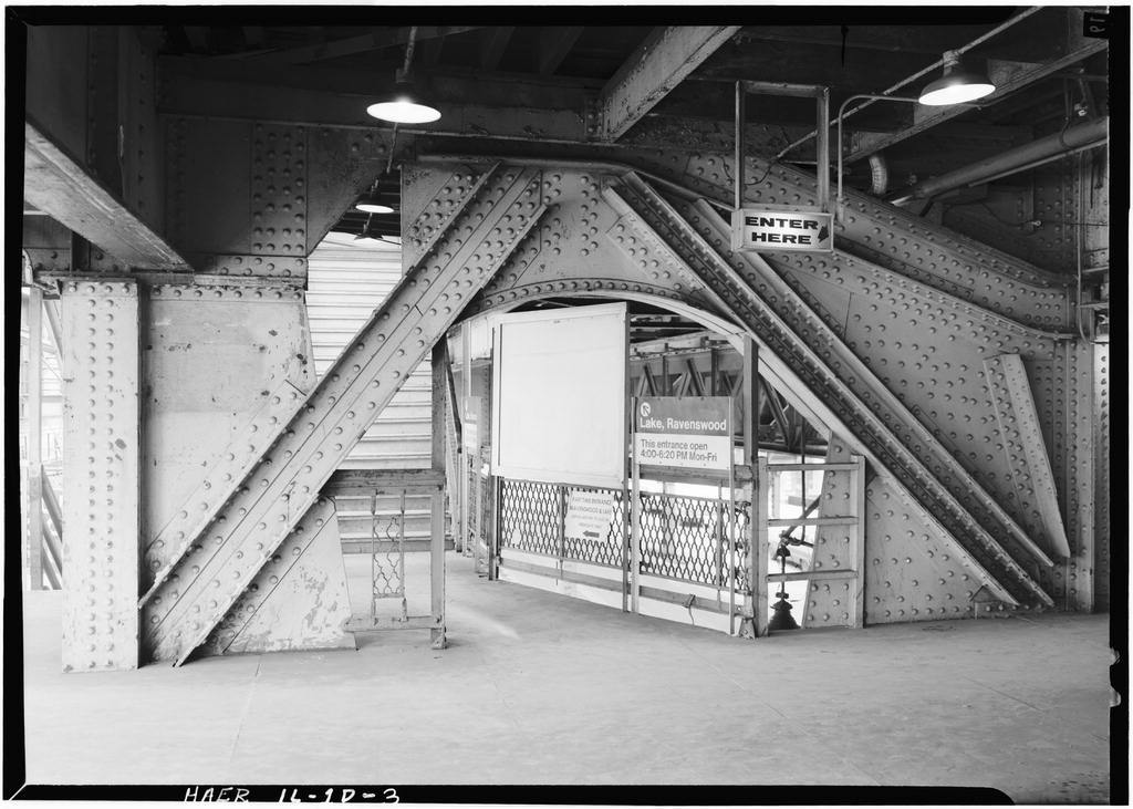 Union Elevated Railroad, Randolph-Wabash Avenue Station, Randolph Street & Wabash Avenue, Chicago, Cook County, IL