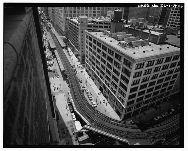 Union Elevated Railroad, Union Loop, Wells, Van Buren, Lake Streets & Wabash Avenue, Chicago, Cook County, IL