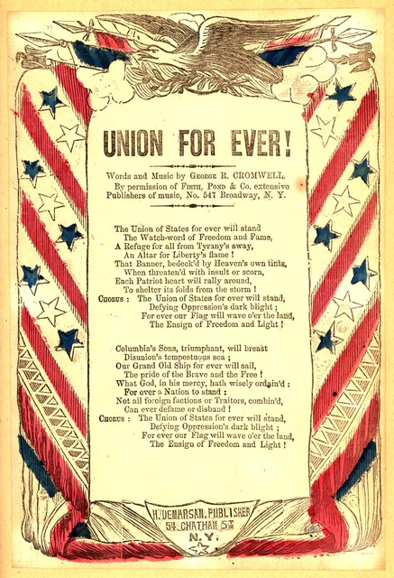 Union for ever! Words and music by George R. Cromwell ... H. De Marsan, Publisher, ... N. Y