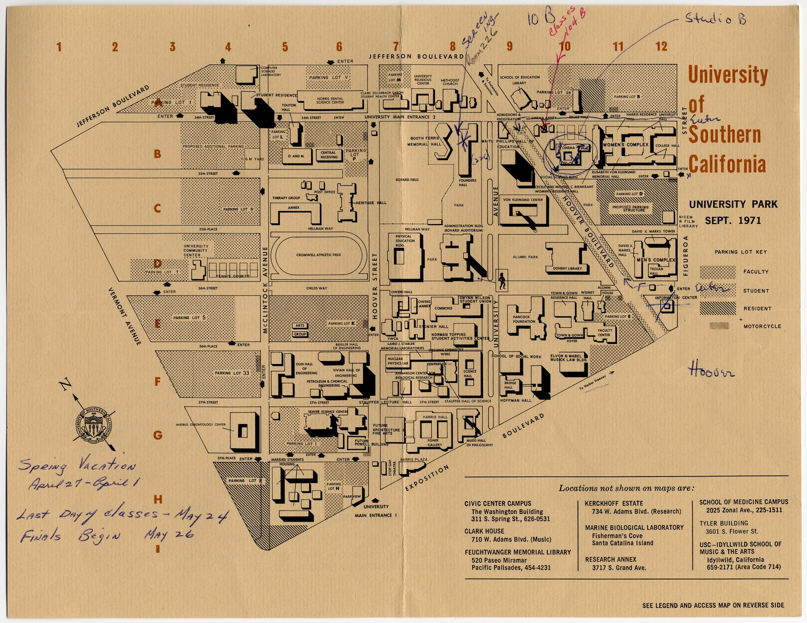 Osage Warrior Ambulance Wiring Diagram Https Media View Of The New York Quarantine Staten Island University Southern California Campus Map With Handwritten Indications For 1600