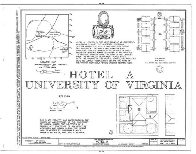 University of Virginia, Hotel A, West Range, Charlottesville, Charlottesville, VA