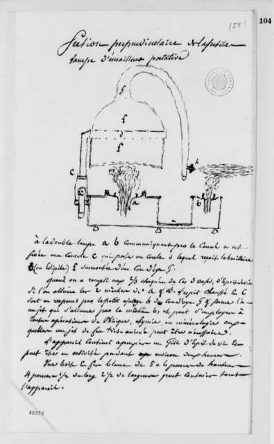 Unknown, no date, Description and Drawing of Lamp for Enamelling, in French