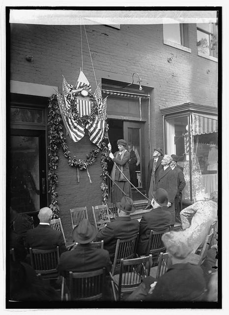Unveiling first P.O. tablet, 11/3/23