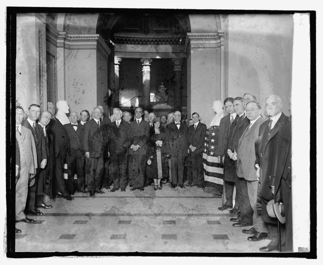 Unveiling of busts of Champ Clark and Rep. J.R. Mann at Captiol, 2/28/25
