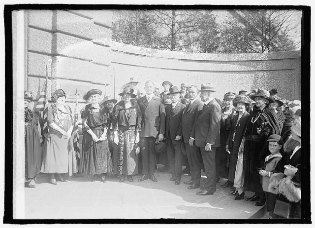 Unveiling tablet, Meridian Hill Park, 5/2/23