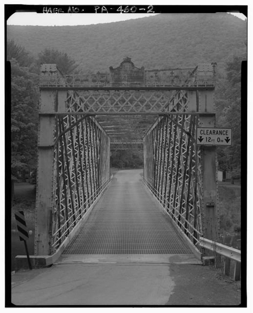 Upper Bridge at Slate Run, Spanning Pine Creek at State Route 414, Slate Run, Lycoming County, PA