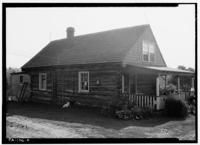 Upper Swedish Log Cabin, Darby Creek vicinity, Clifton Heights (Upper Darby Township), Darby, Delaware County, PA