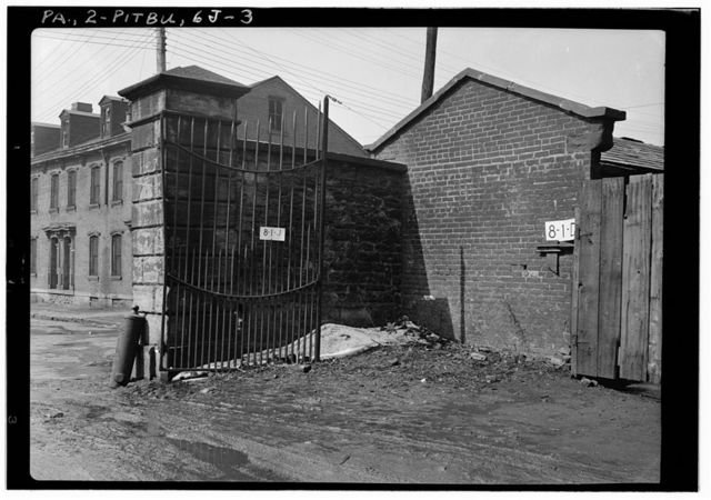 U.S. Allegheny Arsenal, Entrance Gates, Thirty-ninth Street, Pittsburgh, Allegheny County, PA