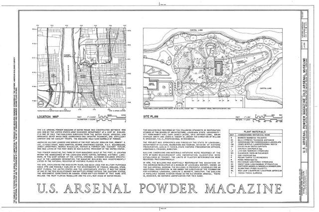 U.S. Arsenal Powder Magazine, East Garden, State Capitol Grounds, Baton Rouge, East Baton Rouge Parish, LA