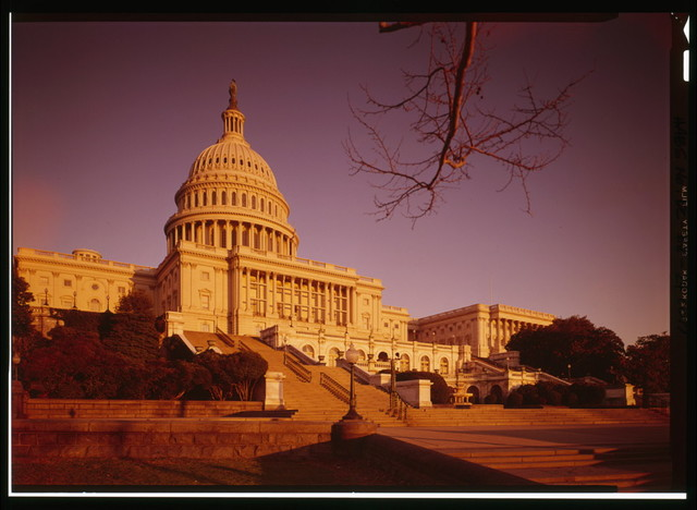 U.S. Capitol, Intersection of North, South, & East Capitol Streets & Capitol Mall, Washington, District of Columbia, DC