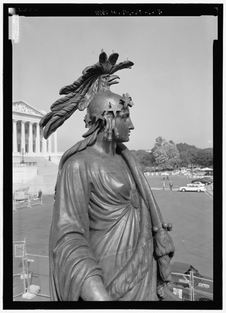 U.S. Capitol, Statue of Freedom, Intersection of North, South, & East Capitol Streets & Capitol Mall, Washington, District of Columbia, DC