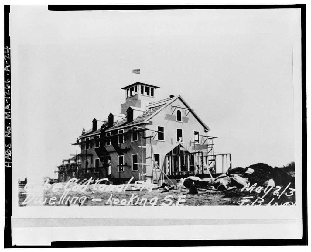 U.S. Coast Guard Cape Cod Canal Station, Station House, Off Coast Guard Road, about 1 mile north of U.S. Route 6A intersection, Sandwich, Barnstable County, MA