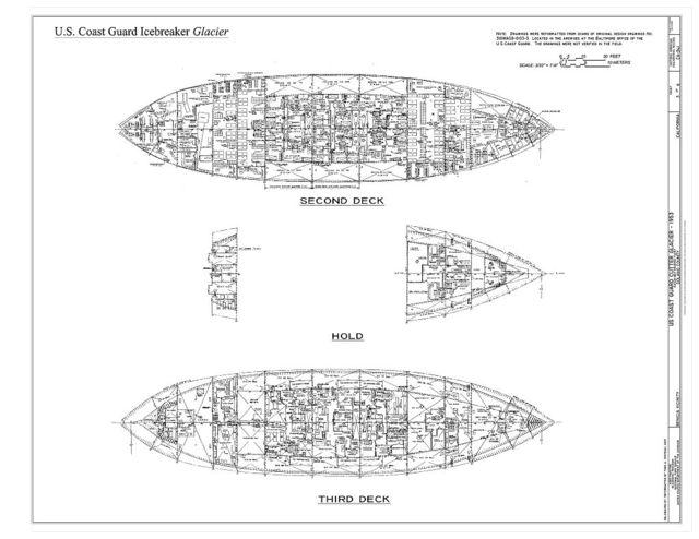 US Coast Guard Icebreaker Glacier, Suisun Bay Reserve Fleet, Benicia, Solano County, CA