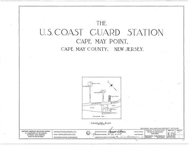U.S. Coast Guard Station, Delaware Bay, Cape May Point, Cape May County, NJ