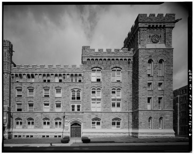 U.S. Military Academy, West Academic Building, Northwest corner of Brewerton Roads, West Point, Orange County, NY