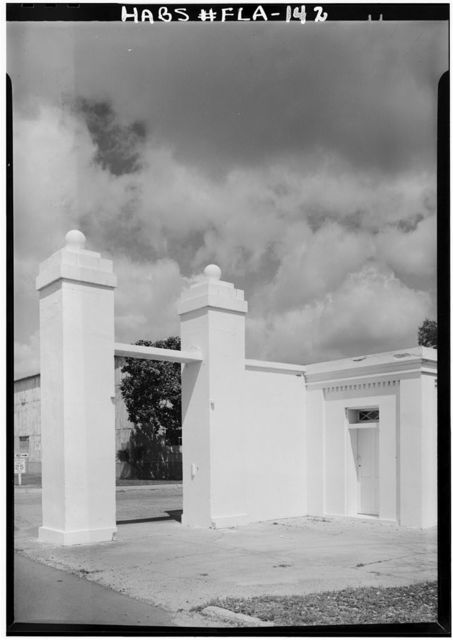 U.S. Naval Air Station, Navy Yard Gate, South Avenue near intersection with West Avenue, Pensacola, Escambia County, FL