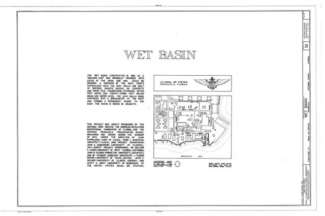 U.S. Naval Air Station, Wet Basin, Pensacola, Escambia County, FL