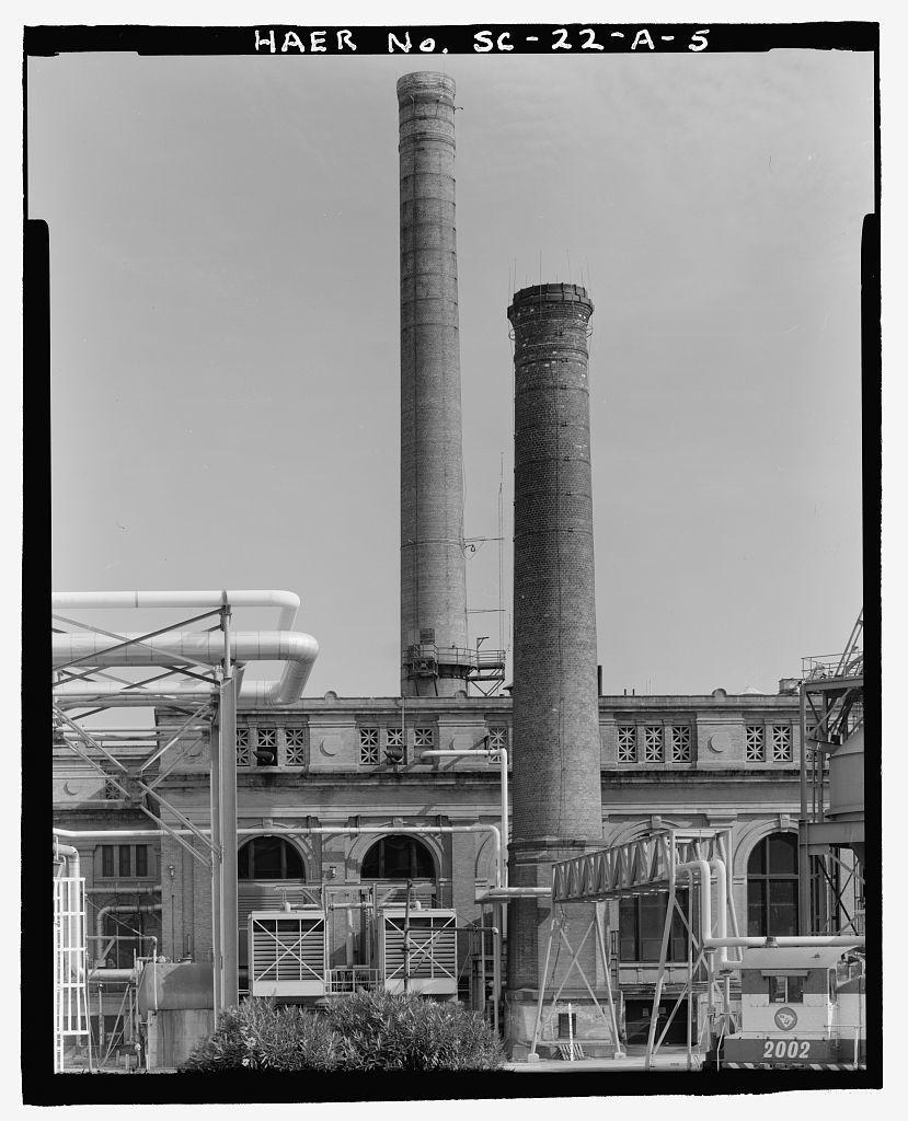 U.S. Naval Base Charleston, Building No. 32 Smokestack, Hobson Avenue, Charleston, Charleston County, SC