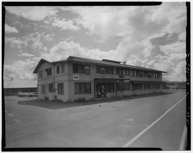 U.S. Naval Base, Pearl Harbor, Administration Building, Kuahua Peninsula, West of Jarvis Street, Pearl City, Honolulu County, HI