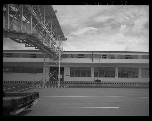 U.S. Naval Base, Pearl Harbor, Aviation Storehouse, Vincennes Avenue at Simms Street, Pearl City, Honolulu County, HI