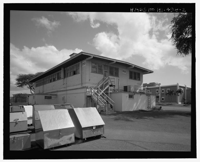 U.S. Naval Base, Pearl Harbor, Casualty Station Type A, Corner of Avenue G & Sixth Street, near Dry Dock No. 1, Pearl City, Honolulu County, HI