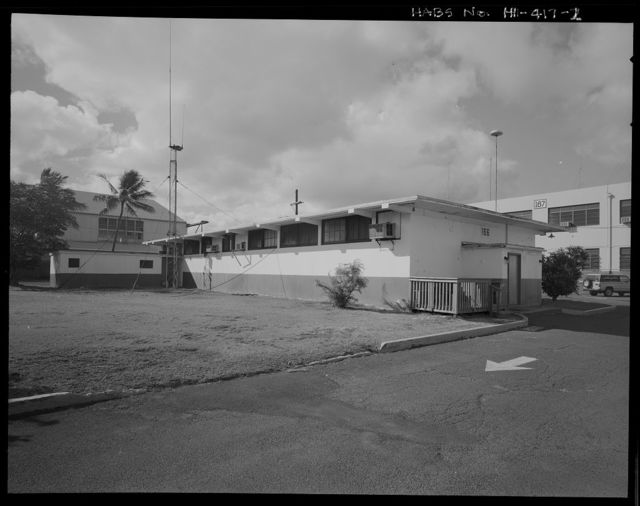 U.S. Naval Base, Pearl Harbor, First Aid & Decontamination Building, Wasp Boulevard near Ranger Loop, Pearl City, Honolulu County, HI