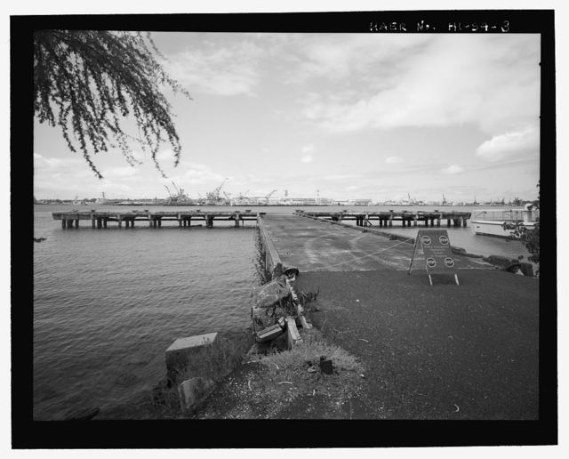 U.S. Naval Base, Pearl Harbor, Gasoline Wharf, Offshore, near the intersection of Hornet Avenue & Curtis Street, Ford Island, Pearl City, Honolulu County, HI
