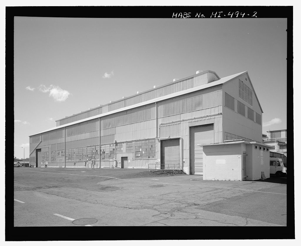 U.S. Naval Base, Pearl Harbor, Heavy Materials Storehouse, Second Street near Avenue C intersection, Pearl City, Honolulu County, HI