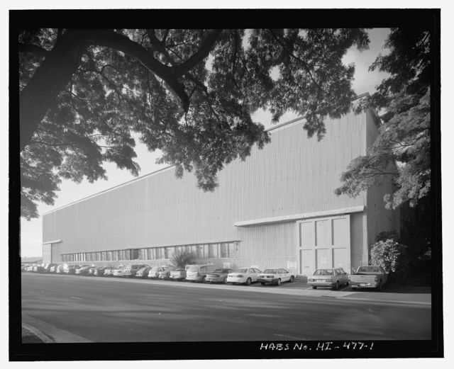 """U.S. Naval Base, Pearl Harbor, Heavy Ordnance Storehouse & Annex, Avenue D near Eighth Street intersection, adjacent to the west of Parking Lot """"A"""", Pearl City, Honolulu County, HI"""
