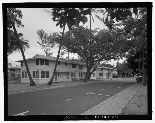 U.S. Naval Base, Pearl Harbor, Housing Area 1, Fourplex Type, Bounded by Kamehameha Highway, Plantation Drive, South Avenue, Pearl City, Honolulu County, HI